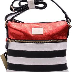 Monnari - Malá dámská taška přes rameno s pruhy BAG1270-M20