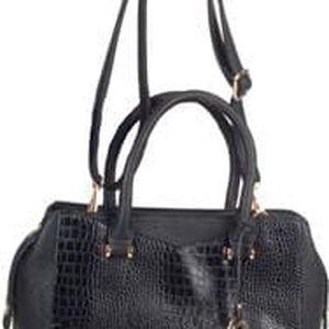 Remonte - Černá kabelka se koženým vzorem a zlatými doplňky Q0403-02