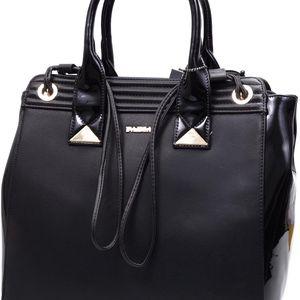 Monnari - Luxusní dámská kabelka přes rameno i do ruky v černo-zlatém provedeni BAG0010-020