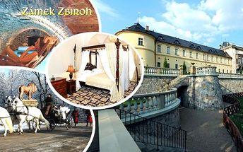 Královský luxus - pobyt pro 2 osoby na 3 dny v romantickém 5* Chateau hotelu Zbiroh v malebné krajině křivoklátských lesů. Snídaně v zámecké krčmě, prohlídka zámku, wellness centrum a sleva na masáže.Buďte jako v pohádce - jen 20 min. od Prahy.