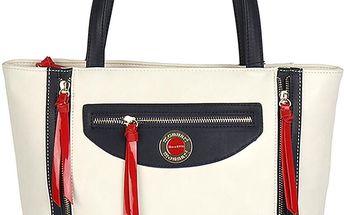 Pabia - Dámská stylová kabelka s modrými a červenými doplňky BAG0390-000
