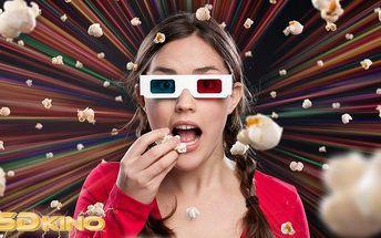 2 vstupenky do 5D kina na libovolný film v Galerii Harfa v Praze