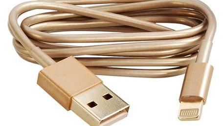Nabíjecí a datový kabel na iPhone 5 - zlatá barva - dodání do 2 dnů