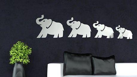 Zrcadlová dekorace v podobě slonů