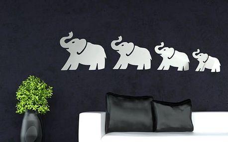 Zrcadlová dekorace v podobě slonů - poštovné zdarma