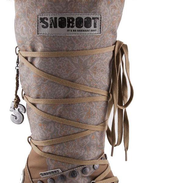 Snoboot - Luxusní módní sněhule Istanbul Brown - velikost 38