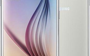Samsung Galaxy S6 - 32GB, bílá - SM-G920FZWAETL + Zdarma GSM pouzdro Samsung EF-WG920P pro Galaxy S6 (G920), bílá (v ceně 399,-)