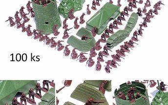 Set plastových vojáčků - 100 ks
