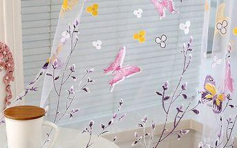 Záclonka s motýlky - 2 barvy