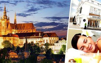 Ozdravně-relaxační pobyt v luxusním Hotelu Golf v pokojích Superior**** pro 2 osoby ve stověžaté Praze s neuvěřitelnou slevou. 14 regeneračních, relaxačních a hubnoucích procedur jen pro Vás - koupele, obklady, masáže, zábaly, detoxikace a další!