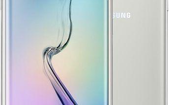 Samsung Galaxy S6 Edge - 32GB, bílá - SM-G925FZWAETL + Zdarma GSM pouzdro Samsung EF-QG925B pro Galaxy S6 Edge (G925), stříbrná (v ceně 699,-)