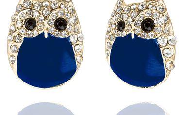 Fashion Icon Náušnice sovy s krystalky