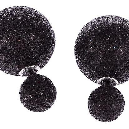 Fashion Icon Náušnice oboustranné kuličky třpytky