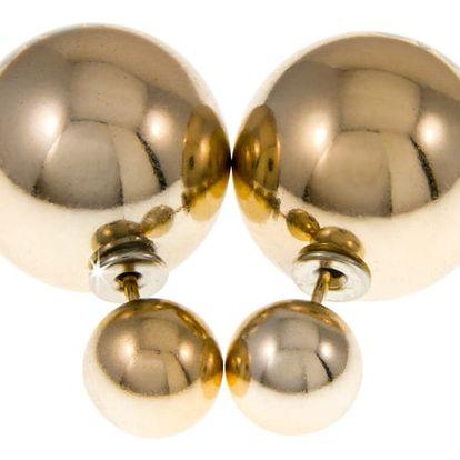 Fashion Icon Náušnice kuličky oboustranné lesklé