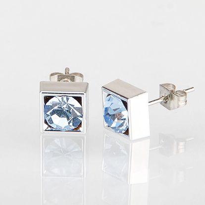 Fashion Icon Náušnice čtverec s krystalky 5 mm pecky krystal krystal s kamínkem hranaté NE0876-0330