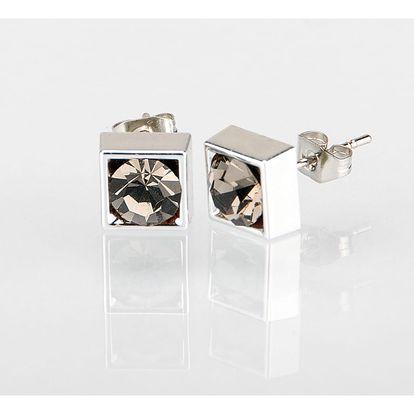 Fashion Icon Náušnice čtverec s krystalky 5 mm pecky krystal krystal s kamínkem hranaté NE0876-0313