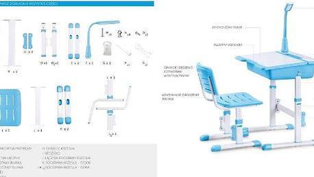 Dětský psací stůl a židle Astro 3 modrá