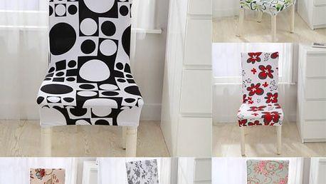 Elastický potah na kuchyňskou židli - více variant