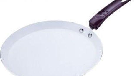 Pánev na palačinky keramická 24 cm fialová RENBERG RB-1025fial