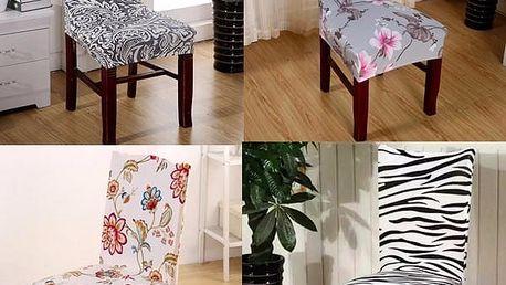 Designový potah na židli - více vzorů - poštovné zdarma