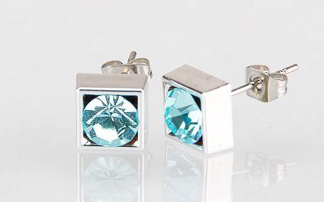 Fashion Icon Náušnice čtverec s krystalky 5 mm pecky krystal krystal s kamínkem hranaté NE0876-0316