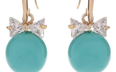 Fashion Icon Náušnice barevné kuličky se zirkony