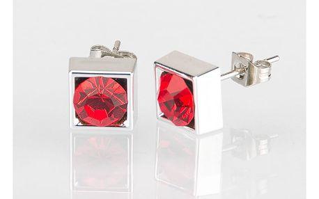 Fashion Icon Náušnice čtverec s krystalky 5 mm pecky krystal krystal s kamínkem hranaté NE0876-0303