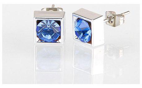 Fashion Icon Náušnice čtverec s krystalky 5 mm pecky krystal krystal s kamínkem hranaté NE0876-0331
