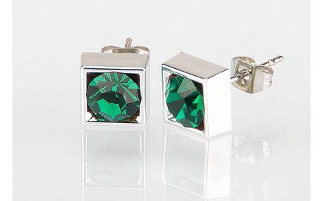 Fashion Icon Náušnice čtverec s krystalky 5 mm pecky krystal krystal s kamínkem hranaté NE0876-0310