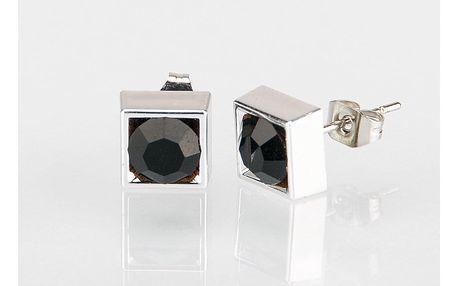 Fashion Icon Náušnice čtverec s krystalky 5 mm pecky krystal krystal s kamínkem hranaté NE0876-0302