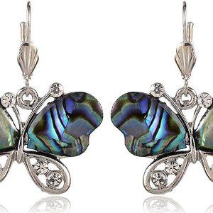 Fashion Icon Náušnice motýlci s Paua perletí