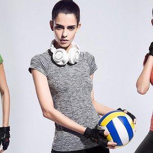 Sportovní melírovaná trika s krátkým rukávem