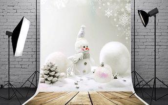 Fotopozadí do ateliéru - vánoční sněhulák - 1,5 x 2,1 m