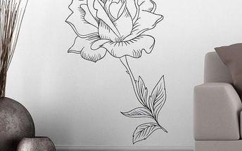Samolepka na zeď - Rozkvetlá růže