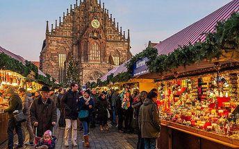 1denní adventní zájezd do Norimberka s prohlídkou města, trhů a s možností nákupů pro 1