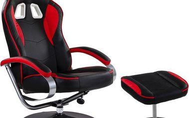 Kancelářská židle GT RELAX RACER - černá/červená