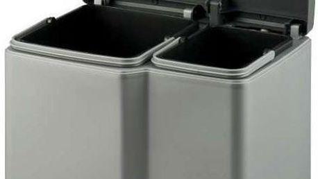 Koš odpadkový DUO na tříděný odpad - šedý CURVER