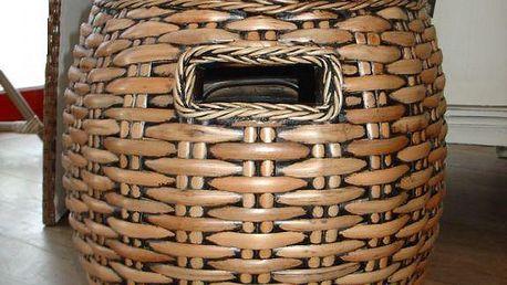 Ratanový bobík s úložným prostorem KENDANG