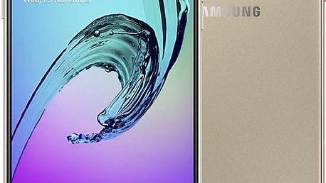 Samsung Galaxy A3 (2016) LTE, zlatá - SM-A310FZDAETL + Zdarma GSM pouzdro Samsung EF-QA310CF pro Galaxy A3 (A310), zlatý ( v ceně 699,-)
