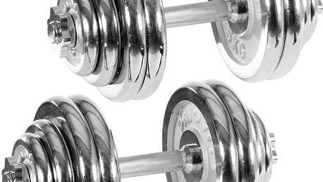 Set jednoručních chronovaných činek MOVIT 30 kg