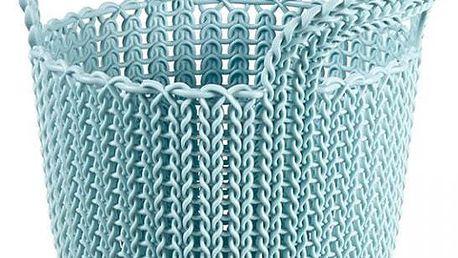 kulatý košík KNIT 3L - sv. modrá