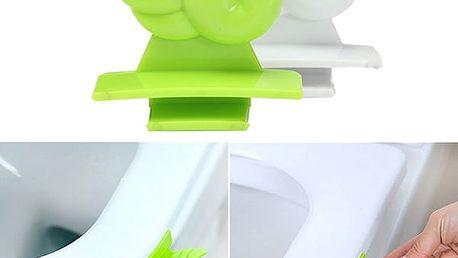 Pomůcka ke zvedání záchodového prkénka - zelená