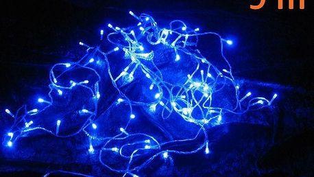 Vánoční LED osvětlení 9 m - modré, 100 diod