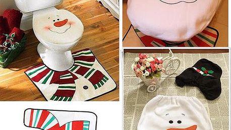 Vánoční sada na toaletu - Sněhulák - 3 kusy