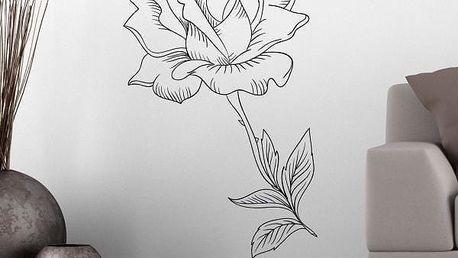 Samolepka na zeď - Rozkvetlá růže - poštovné zdarma