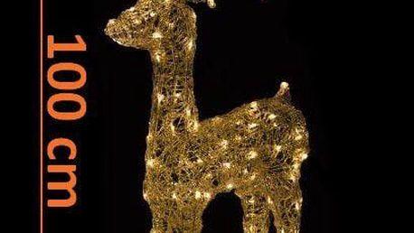 Vánoční LED dekorace - sob - 100cm, teple bílá