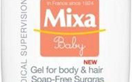 Mixa Extra vyživující mycí Baby gel na tělo a vlásky 5% 400 ml + SEFIROS Vzorek kosmetiky z Mrtvého moře
