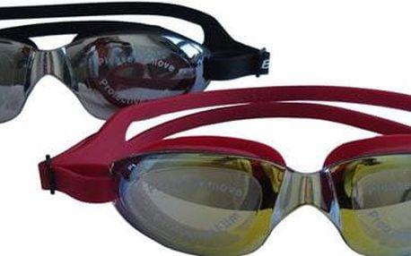 Závodní plavecké brýle FLAME - silikon, zrcadlovka