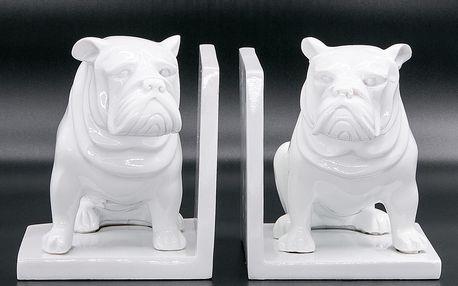 Socha či zarážka na knihy pes Bulldog