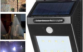 Venkovní LED svítilna s pohybovým čidlem - poštovné zdarma